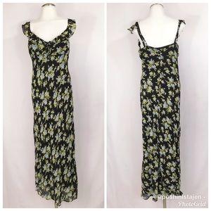 🆕 Betsey Johnson Long Floral Summer Dress Sz Med